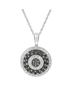 0.75 CTW Diamonds Necklace Designed In 925 Sterling Silver