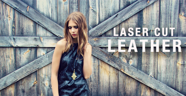 laser cut leather
