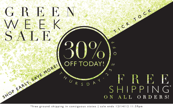 Green Week Sale | 30% Off Today