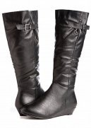 Web Exclusive: Tall Wedge Boot (Wide Width/Calf)