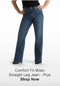 COMFORT FIT MILAN STRAIGHT LEG JEAN - PLUS SHOP NOW