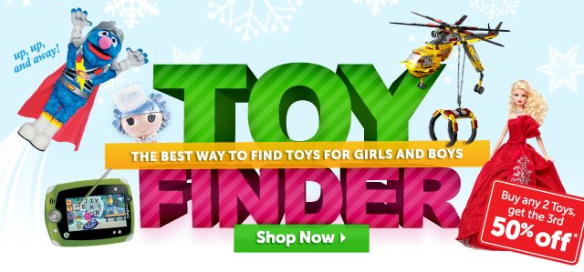 Toy Finder - the best way to find toys for girls and boys - Shop Now