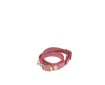 Giant Gold Bracelet Double Tour Rose Bonbon
