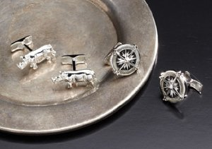 Ravi Ratan: Sterling Silver Cufflinks