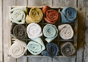Beautify the Bath: Towels from Nine Space & Pure Fiber