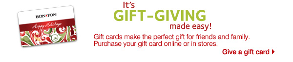 It's gift giving made easy! Gift cards make the perfect gift for friends and family. Give a gift card