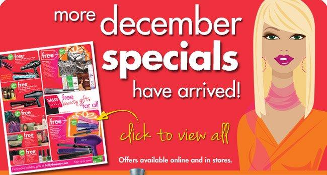 more december specials have arrived!