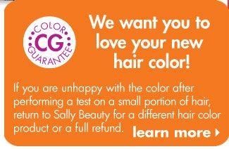 Hair Color Guarantee