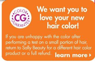 Hair Color Guarantee