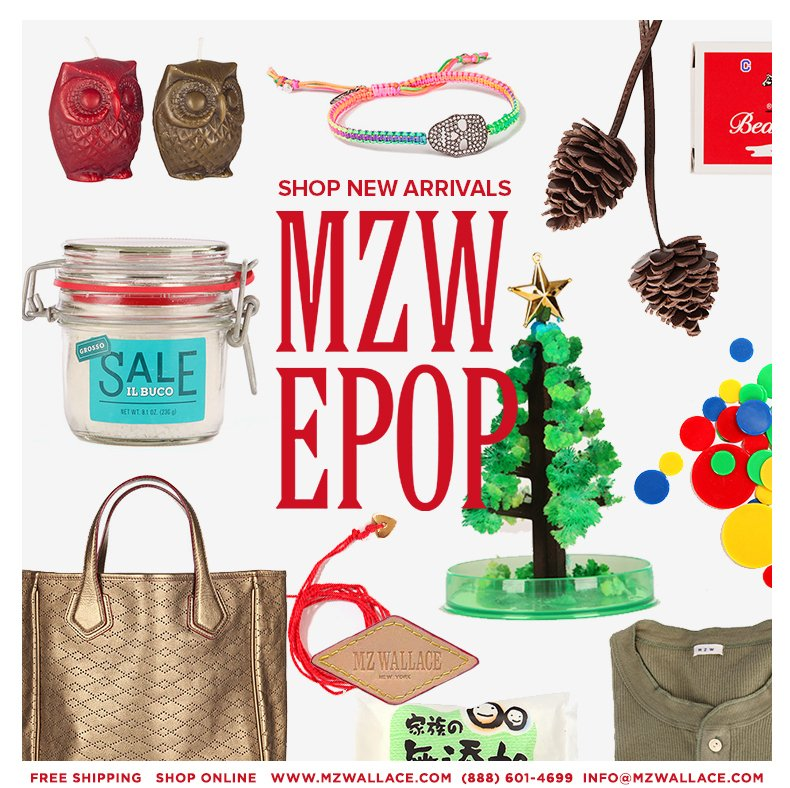 Shop new arrivals in the MZW E-Pop