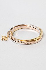 The Disney Couture Script Bangle Set with Charms