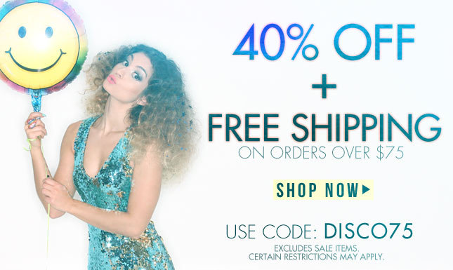 40% Off + Free Shipping On Orders Over $75
