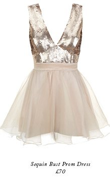 Sequin Bust Prom Dress