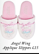 Angel Wing Applique Slippers