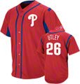 Chase Utley Philadelphia Phillies Wind-Up Red Player Jersey