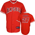 Mike Trout Jersey: Allternate Red #27 Los Angeles Angels of Anaheim Replica Jersey