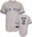 Derek Jeter Jersey: Adult Majestic Road Grey Replica #2 New York Yankees Jersey