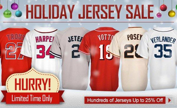 Hundreds of Jerseys Up to 25% off