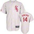 Paul Konerko Jersey: Adult Majestic Alternate Red Pinstripe Replica #14 Chicago White Sox Jersey