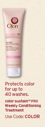 Protects  color for up to 40 washes color sustain PRO Weekly Conditioning  Treatment