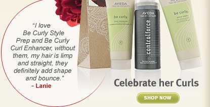 celebrate her curls. shop  now.