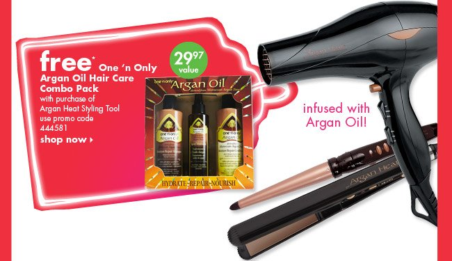 free* One 'n Only Argan Oil Hair Care Combo Pack