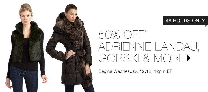 50% Off* Gorski & More…Shop Now