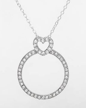 Ladies Necklace Designed In 925 Sterling Silver $15