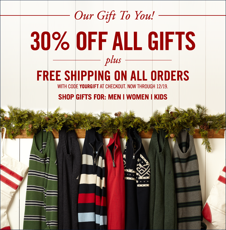 Our Gift To You! 30% Off All Gifts + Free Shipping On ALL Orders! Use code YOURGIFT at checkout. Some exclusions apply. We're offering incredible savings sitewide so you can treat yourself to our premium layers, exceptional sleepwear and boldest outerwear. It's our gift to you!