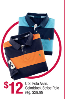U.S. Polo Assn. Colorblock Stripe Polo