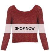Solid Slub Knit Sweater