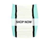 Colorblock Paneled Bodycon Skirt