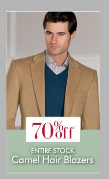 70% OFF* Camel Hair Blazers