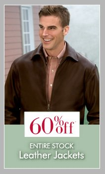 60% OFF* Leather Jackets