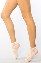 The White Lace Ankle Sock