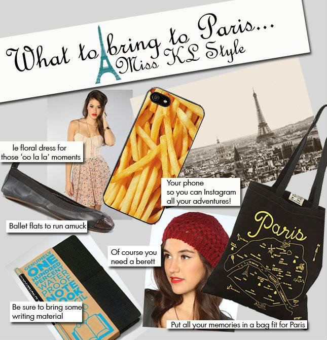 What To Bring To Paris