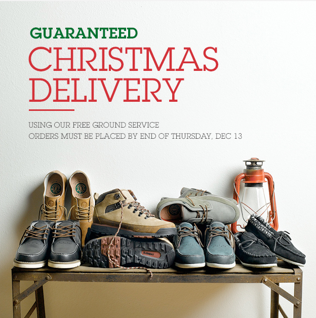 Guaranteed Christmas Delivery Using Our Free Ground Service - Orders must be placed by End of Thursday, Dec. 13th