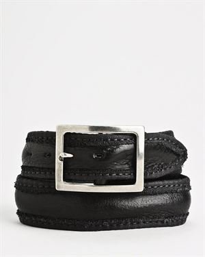 John Varvatos Canvas And Leather Strap Belt