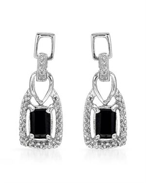 Ladies Diamond Earrings Designed In 925 Sterling Silver