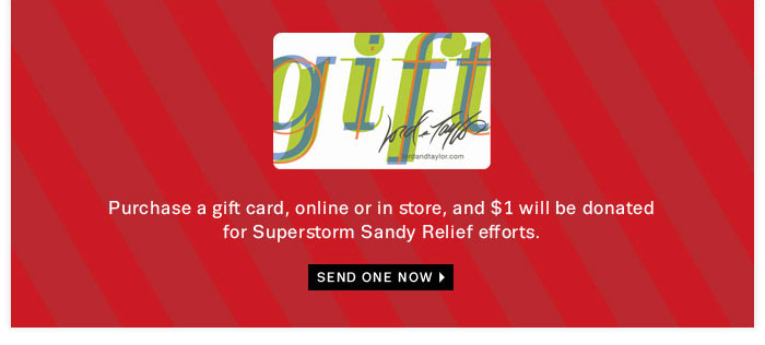 Send one now. Giftcard.