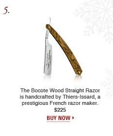 Bocote Wood Straight Razor