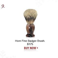 Horn Fine Badger Brush