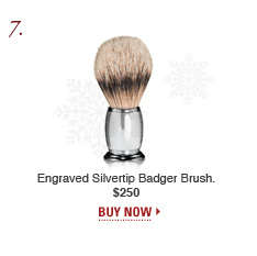 Engraved Silvertip Badger Brush
