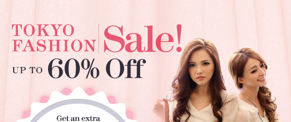 Tokyo Fashion Sale: Up to 60% off + US$10 coupon