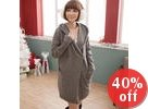 Side-Button Hooded Long Cardigan