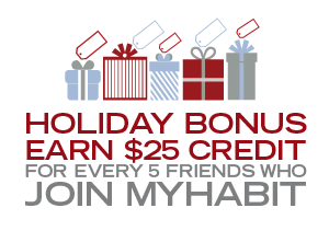 HOLIDAY BONUS: INVITE 5, GET $25