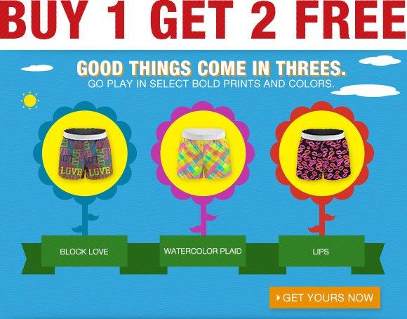 Buy 1, Get 2 Shorts