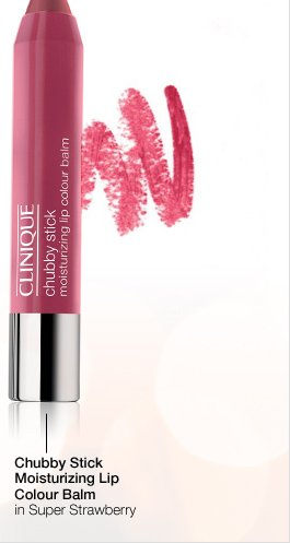 Chubby Stick Moisturizing Lip Colour Balm in Super  Strawberry.
