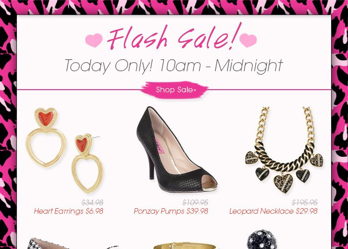 Flash Sale! Today only from 10am to Midnight