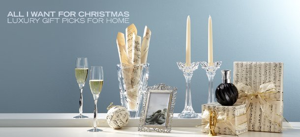 ALL I WANT FOR CHRISTMAS: LUXURY GIFT PICKS FOR HOME, Event Ends December 15, 9:00 AM PT >